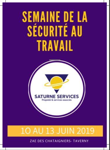 Le Groupe Saturne - Actualités - Semaine de la sécurité au travail - Affiche - Un univers de propreté - Nettoyage professionnel - Entreprise de nettoyage