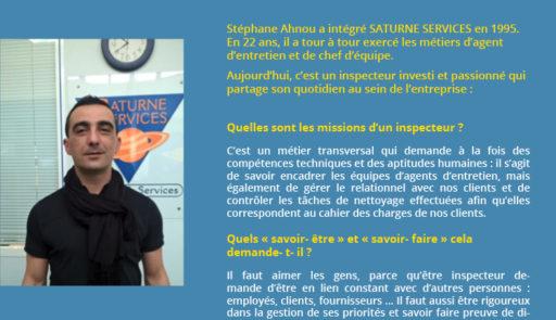 Le Groupe Saturne - Actualités - Stephane Ahnou - Un univers de propreté - Logo - Nettoyage professionnel - Entreprise de nettoyage