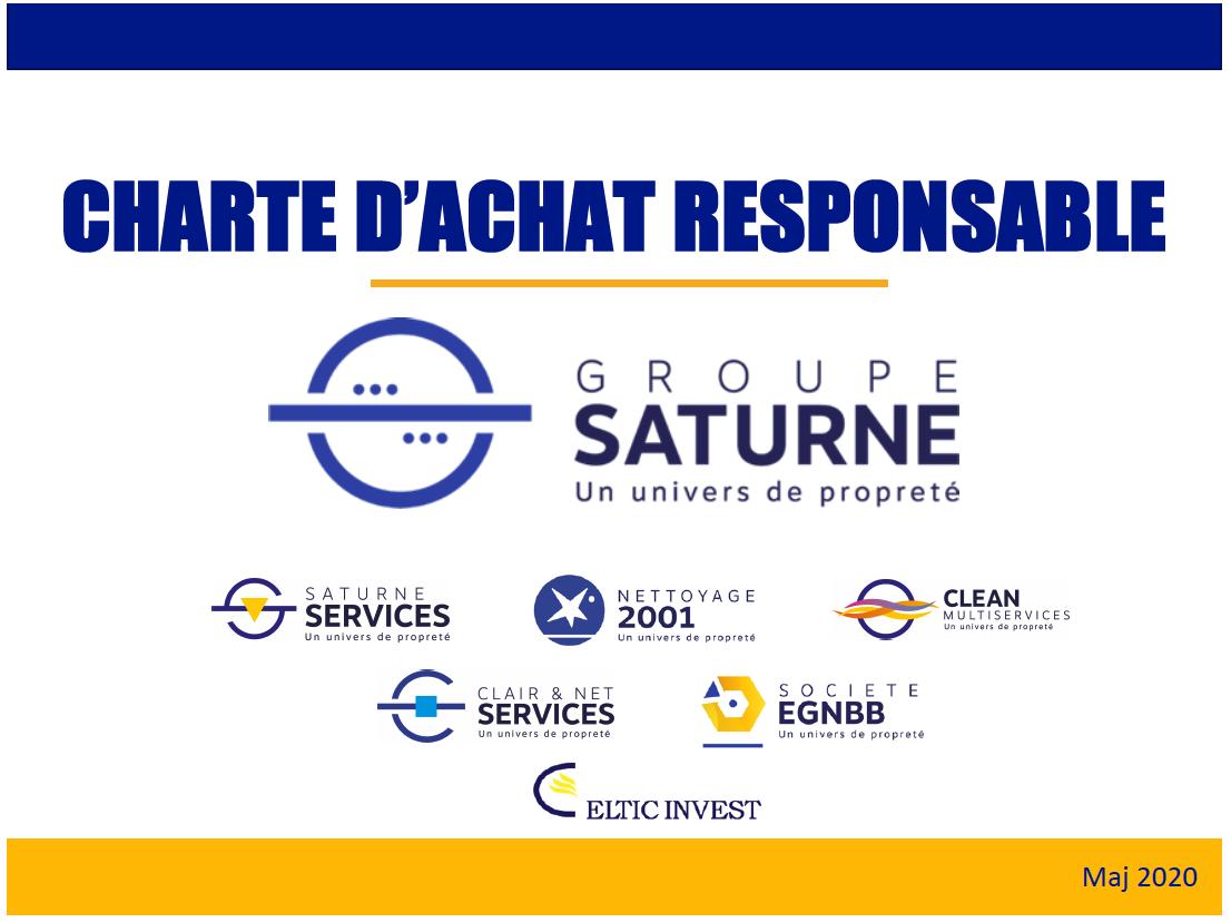 Le Groupe Saturne - Charte d'achat responsable - Charte - RSE - Nettoyage professionnel - Entreprise de nettoyage